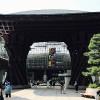尾山神社のカエルオブジェと金沢建築旅行
